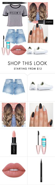 """Killin' It✌🏼😜"" by lovegymnastics66 ❤ liked on Polyvore featuring Frame, Converse, Smashbox, Maybelline, Lime Crime and MAC Cosmetics"