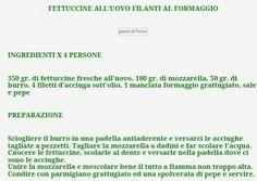 FETTUCCINE FILANTI AL FORMAGGIO