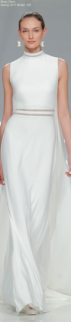 Rosa Clara Spring 2017 Bridal Collection - white maxi dress @roressclothes closet ideas #women fashion outfit #clothing style apparel