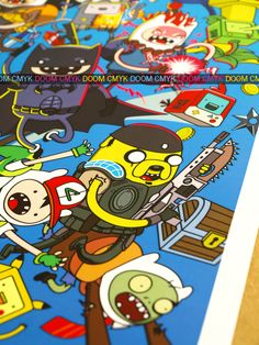Close-up of my Adventure Time game Time 4 fan art poster.