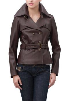Awesome Ladies Leather Jackets Jessie G. Women's Belted Safari Lambskin Leather Jacket - Espresso L Button ... Check more at http://24store.tk/fashion/ladies-leather-jackets-jessie-g-womens-belted-safari-lambskin-leather-jacket-espresso-l-button/