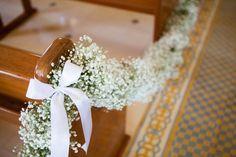 Decoração para o caminho até o altar - igreja - cerimônia
