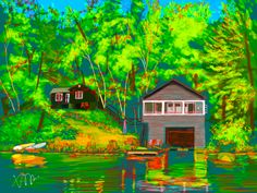 Maggie's cottage on Pigeon Lake, Bobcaygeon - iPad Pro + Sketch Pro (by Autodesk)