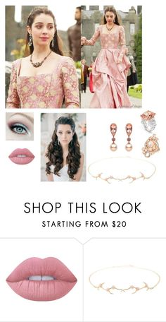 """""""Delicate Tudor"""" by charlie-aw-easter on Polyvore featuring Lime Crime and Annette Ferdinandsen"""