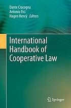 International Handbook of Cooperative Law.