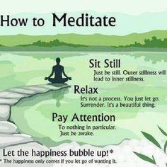 Meditate! Méditer 3 mn par jour, pour vider le trop plein mental est un premier pas #antistress