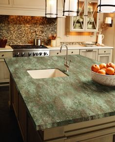 Kitchen Island Featured In Corian® Rosemary
