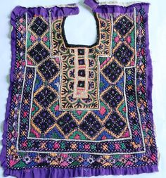 Vintage Handmade Banjara Neck Yoke with mirror by coloursofspirit