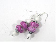 European Style Swirl Bead Dangle Earrings by cynhumphrey on Etsy, $6.50