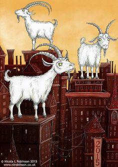 © Nicola L Robinson 2015 - Year of the Goat - Illustration