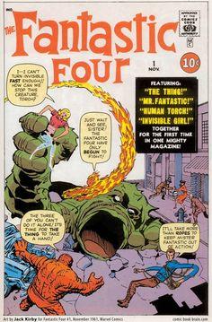 Cover for Fantastic Four Classic (Planeta DeAgostini, 1993 series) Comic Book Superheroes, Marvel Comic Books, Comic Books Art, Marvel Comics, Book Art, Best Superhero, Superhero Movies, Vintage Comic Books, Vintage Comics