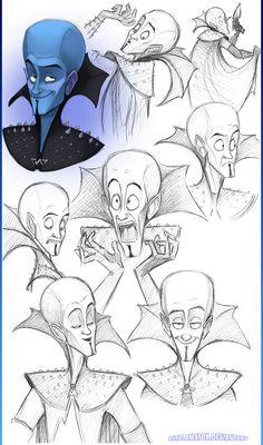 Megamind Doodles by Altalamatox.deviantart.com on @deviantART