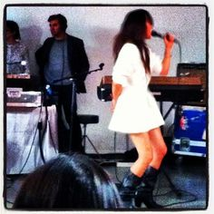 Blonde Redhead performing live at @rachel_comey