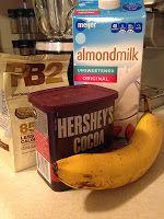Post Workout Chocolate PB2 and Banana Smoothie