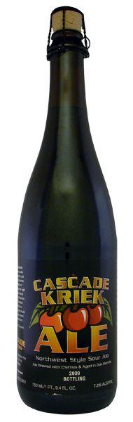 Cerveja Cascade Kriek Ale, estilo Flanders Red Ale, produzida por Cascade Brewery, Estados Unidos. 7.3% ABV de álcool.