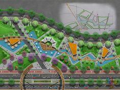 backyard design – Gardening Tips Landscape Architecture Drawing, Landscape Sketch, Landscape Design Plans, Park Landscape, Green Architecture, Landscape Drawings, Concept Architecture, Urban Landscape, Parque Linear