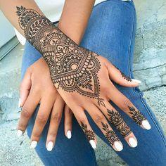 24 Henna Tattoos by Rachel Goldman You Must See                                                                                                                                                                                 Más