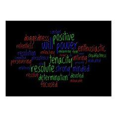 Motivational Words Encouraging a Positive Attitude - available via Zazzle