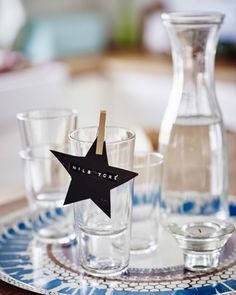 Personalizing your table settings will make guests feel welcome –and allow you to control where they sit!