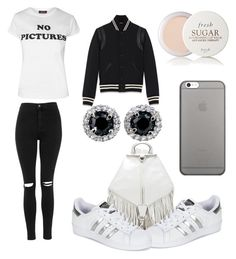 """""""Chill celeb"""" by diazmermaid on Polyvore featuring Topshop, Rebecca Minkoff, adidas, Yves Saint Laurent, Fresh and Native Union"""