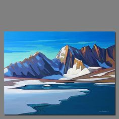 Nicholas Bott October 2016 Exhibition at Mountain Galleries' Banff location. Canadian Painters, Canadian Artists, Paintings I Love, Seascape Paintings, Landscape Artwork, Abstract Landscape, Posca Art, Wildlife Art, Painting Inspiration