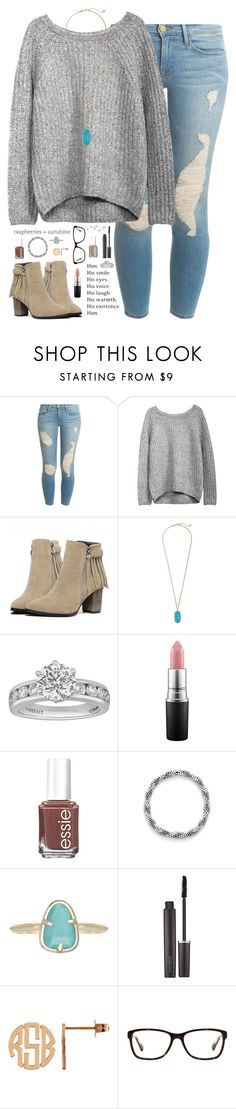 """many animals probably need glasses but nobody knows it.."" by kaley-ii ❤ liked on Polyvore featuring Frame Denim, Kendra Scott, Tiffany & Co., Love Quotes Scarves, MAC Cosmetics, Essie, Aid Through Trade, Laura Mercier and Coach"