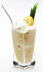 Disaronno Cocoban: Disaronno, Pina Colada Mix, Vanilla Ice Cream, Fresh Banana, & Whipped Cream.