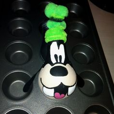 Goofy made from a lightbulb. My talented daughter painted this!