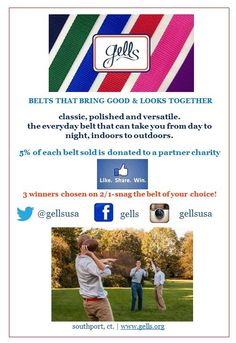 One of our partners, gells, is doing a giveaway until February 1st! Like their page & Share this post for your chance to win, with 5% of proceeds going to benefit ANRF!  www.facebook.com/gells