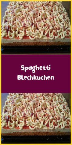 Spaghetti Blechkuchen - Zutaten 2 Tasse/n Zucker 4 Ei(er) 1 Tasse Öl 2 Tasse/n Mehl 1 Pck. Easy Chocolate Desserts, Chocolate Cake Recipe Easy, Chocolate Recipes, Cake Chocolate, Delicious Chocolate, Easy Cookie Recipes, Brownie Recipes, Cake Recipes, Food Cakes