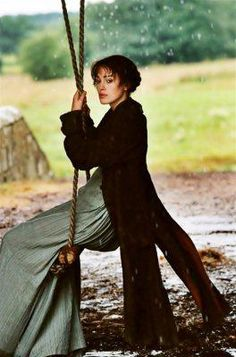 Image result for pride and prejudice 2005 lizzy on the swing