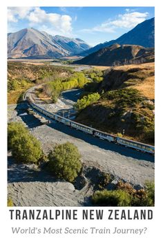 Tranzalpine New Zealand: Crossing the south Island by Rail and Road. One of the World's most scenic Train Journey? Drive or Train across the Southern Alps in New Zealand South Island and visit, Arthurs Pass, Castle Hill, Porters Pass, on the road from Christchurch to Greymouth. Best places to visit in New Zealand from the New Zealand Travel Blog.