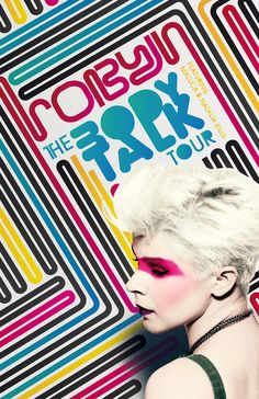 """Poster for """"Robyn - The Body Talk Tour"""" by entresdimensiones. , via Behance"""