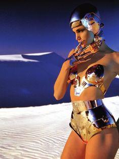 Futuristic fashion shoot