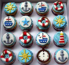 boat cupcakes
