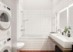 © STOMEO Visualisierungen - Zürich Alcove, Bathtub, Bathroom, Architecture Visualization, Real Estates, Floor Layout, Standing Bath, Washroom, Bath Tub