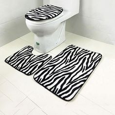 Size: 45 75cm(Bath Mat Carpet), 45 40cm(Pedestal Rug), 43 37cm(Lid Toilet Cover). 1 Lid Toilet Cover. 1 Pedestal Rug. 1 Bath Mat Carpet. Comfortable, non-toxic, environmental protection, durable. Due to lighting effects, monitor's brightness, contrast settings etc, there could be some slight differences in the color tone of the pictures and the actual item. | eBay!