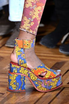 Vivienne Westwood #clompers on the Gold Label catwalk #SS13 #PFW