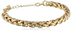 """Signature 1928 """"Collection"""" Gold-Tone Small Chain Bracelet -- More info could be found at the image url."""