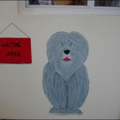 My murals I painted at Delong Bed and Biscuit, pet border and groomer.