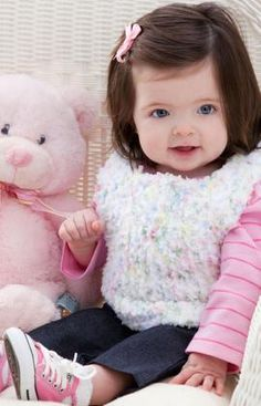 Easy Tunisian Baby Vest Free Crochet Pattern from Red Heart Yarns
