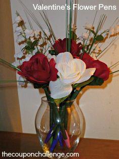 Valentine's Day Gift Ideas - Flower Pens