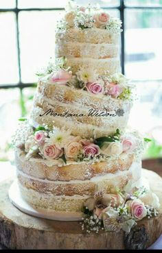 unfrosted wedding cake s winter woodland inspiration cakes wedding 21414