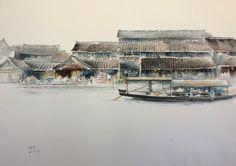 Watercolor 《西塘印象》(1)
