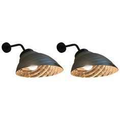 Pair of Large French Mercury Clamshell Sconces or Reading Lamps