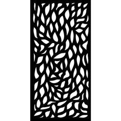 Autumn Recycled Plastic Charcoal Decorative Screen 3 Piece Per Bundle