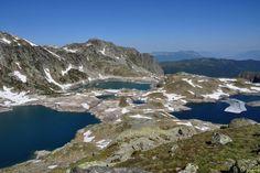 Lac Noir, Lac Carré, Lac de la Motte, Lac de Cottepens, Lac Blanc...Sur la Montagne des Sept Laux dans le massif de Belledonne