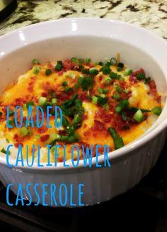 Loaded Cauliflower Casserole from @twotoastedcoconuts!