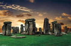 Stonehenge large panorama at sunset, United Kingdom (without tourists). Free art print of Stonehenge. Eurotrip, Stonehenge History, Salisbury Plain, Medieval, Drawn Art, Hand Drawn, Ancient Mysteries, Summer Solstice, June Solstice