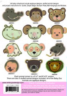 Anita Goodesign   Baby Zoo Animals - Anita Goodesign Nice designs for quilts, bibs, blankets, etc.